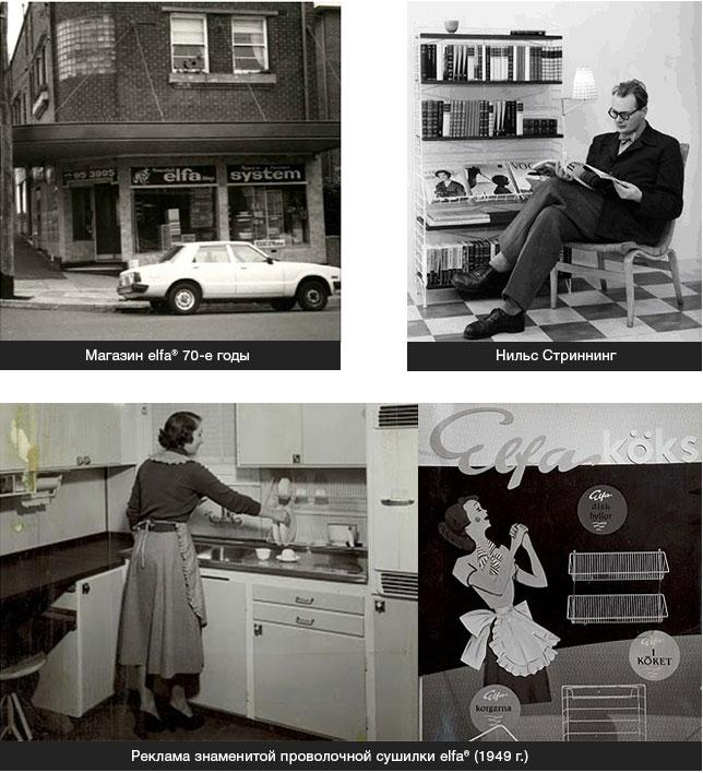 История elfa первый магазин в Швеции