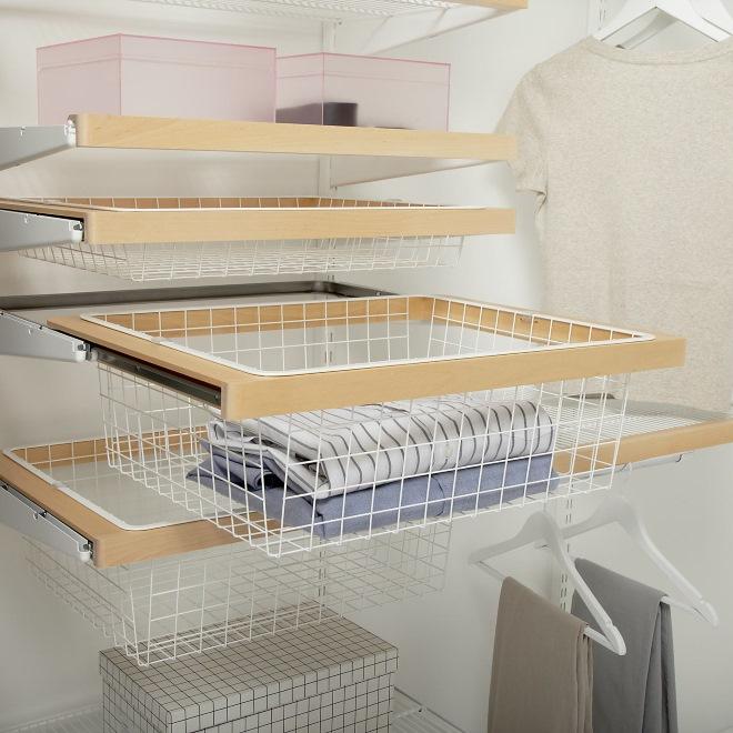 фото ящика, отдельного элемента гардеробной вблизи, которое продемонстрирует качество