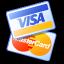 Иконка Visa и Mastercard